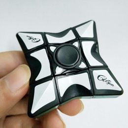 magic cube gyro 2019 - New style puzzle Cube Gyro Fidget Spinner & Magic Cube Geometric Figure EDC Anti-stress Finger Spinner Rubik Cube