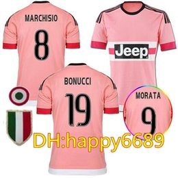 20afe5915 Juv Jersey Canada - 2015 Old Pink DYBALA Soccer Jerseys 15 16 Away  CHIELLINI POGBA MARCHISIO