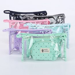 Wholesale Casual Women Travel Cosmetic Bag PVC Leather Zipper Make Up Transparent Makeup Case Organizer Storage Pouch Toiletry Bags Set