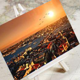turkey charms 2019 - 6 pcs in one, Postcard,Charm Tourist City,Istanbul Turkey,Christmas Postcards Greeting Birthday Message Cards 10.2x14.2c