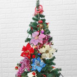 $enCountryForm.capitalKeyWord NZ - 20cm Artificial Flowers Christmas Party Supplies Poinsettia Glitter Flower Gold Bow Clip On Decor Xmas Tree Handcraft Decoration