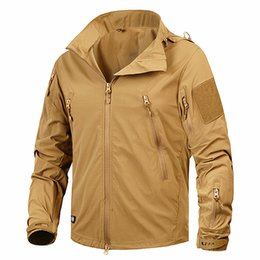 Nylon Coating NZ - New Autumn Men's Jacket Coat Military Clothing Tactical Outwear US Army Breathable Nylon Light Windbreaker