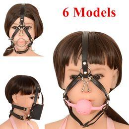 Bdsm Mouth Gear Australia - 6 Models Open Eyes Mouth Mask PU Hood Bondage Gear Head Hood Harness Belts Bondage Tape Adult Game BDSM Toys for Women J10-1-67