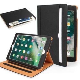 China Wallet Leather Australia - Luxury Tan Soft Leather Wallet Stand Flip Case Smart Cover With Card Slot for New iPad 12.9 9.7 2017 2018 Air 5 6 7 Air2 Pro 10.5 mini 60X