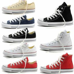Wholesale Factory sale NEW size35 New Unisex Low Top High Top Adult Women s Men s Canvas Shoes colors Laced Up Casual Shoes Sneaker shoes