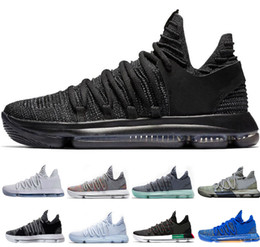 f9c3189889fc Newest KD 10 Dark Stucco men basketball shoes Triple black white BHM  Numbers Oreo mens trainers designer shoes sports sneakers US 8-12