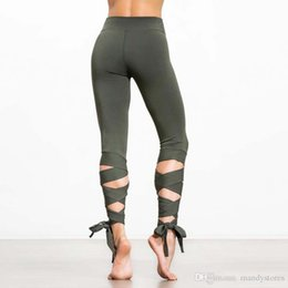 bandage leggings xl Australia - Mermaid Curve High Waist Women Sports Leggings Sexy Bandage full length Yoga Leggings Gymnastics Active Solid color Yoga Pants