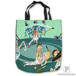 $enCountryForm.capitalKeyWord Australia - Custom CanvasRick-and-Morty-art Tote Shoulder Shopping Bag Casual Beach HandBag Daily Use Foldable Canvas #180713-05-30