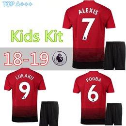 MAN UTD ALEXIS UTD IBRAHIMOVIC LUKAKU child kids kit soccer jerseys 2018  2019 HOME United maillot POGBA Camiseta lukaku football shirt 90de696b5
