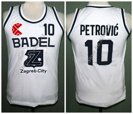 fb674be38 Drazen Petrovic Retro Classic Basketball Jersey Cibona Zagreb Mens White  Embroidery Stitched Custom any Number and name Jerseys
