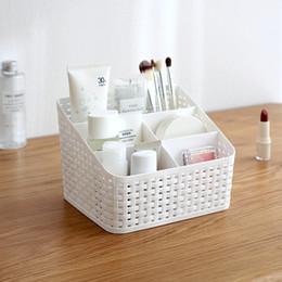 $enCountryForm.capitalKeyWord Canada - Multi-Purpose Desk Organizer PP Plastic Desktop Storage Box Case Pen Pencil Holder Plastic Cosmetics Make Up Organizer Container