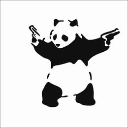 Panda mirror online shopping - New Black Cartoon Kung Fu Panda Decal Car Sticker Waterproof Cartoon Car Body Decorative Logo Sticker Cartoon Car Stickers