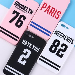 Discount numbers shirt - For Iphone X Phone Cases Shirt Number 76 82 Basketball Soft Scrub All Inclusive Cell Phone Case For Iphone 6 7 8 Plus