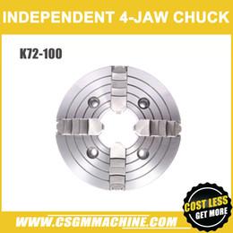 Vente en gros K72-100 précision mandrin 4 mors / 100MM mandrin de tour manuel / mandrin indépendant 4 mors / haute précision / bonne qualité