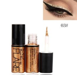 $enCountryForm.capitalKeyWord UK - Professional New Shiny Eye Liners Cosmetics for Women Pigment Silver Rose Gold Color Liquid Glitter Eyeliner Cheap Makeup
