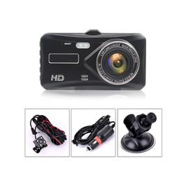 "black video recorder Canada - 4"" touch screen car DVR driving video recorder car black box 2Ch 1080P full HD 170° wide view angle night vision WDR G-sensor"