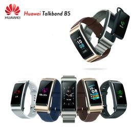 Huawei original earpHone online shopping - Original Huawei TalkBand B5 Talk Band Smart Bracelet Wearable Sports Wristbands Touch AMOLED Screen Call Earphone Band