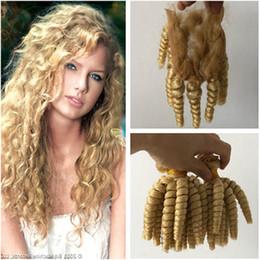 Human Hairs Golden Blonde Australia - Malaysian Blonde Human Hair Bundle Deals with Closure Aunty Funmi #613 Golden Blonde Human Hair Weave Bundles with 4x4 Lace Closure
