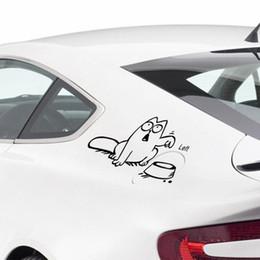 black cat window stickers 2019 - decal Funny Cartoon vinyl Car laptop window tank wall sticker Bowl Cat Decal stickers Decals Wallpaper discount black ca