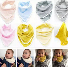 cotton baby napkin 2019 - Baby Bibs Pom Pom Burp Cloths Infant Handkerchief Napkin INS Triangle Saliva Bavoir Towels Newborn Turban Cotton Bandana
