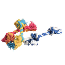 tug toys NZ - new funny Dog Toys Pet Cotton Rope Chew Toys for Dog Puppy Fashion Cute Pastel Knot Bone Tug Honden Speelgoed Interactive Toy free shiping