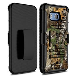 cell phone kickstand Canada - 3 in 1 Robot Cell phone Combo cover Belt Clip protective holster kickstand case For ZTE Blade XZ965 Blade Force N9517 Alcatel Pulsemix