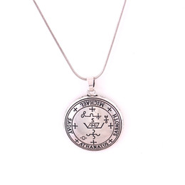 michael pendant Australia - New Design Viking Style Unisex Necklace Great Archangel God Name MICHAEL Written Four Kinds Chains Zinc Alloy Provide Dropshipping