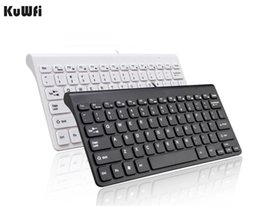 Discount laptop sizes - KuWFi New Keyboard Ultra thin Quiet Small Size 78 Keys Mini Multimedia USB Keyboard For Laptop PC Macbook