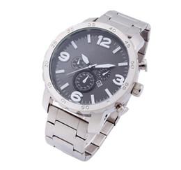 Steel Table Clock UK - New Fashion Big Dial Luxury Fashion Design Men Watch Auto Date Time Table Quartz Watches Montre Clock Relogio Relojes De Marca Wristwatch