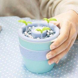 Ioni negativi ad ultrasuoni con umidificatore ad ultrasuoni Creativo Office Home Bonsai Style Mist Maker Mini diffusore di aromi olio essenziale