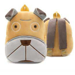 b06b954792e3 Kindergarten Kids Animal Backpacks Baby Girls Boys Cute Sand Dog Schoolbag  Plush Backpack Children Cartoon Toys Gifts School Bags