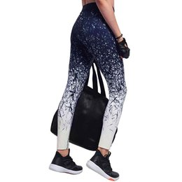 Spandex Yoga Pants UK - Print Yoga Pants Tights Fitness Gym Running Leggings Women Yoga Leggings Quick Dry Breathable Black Printed Pant Sportwear