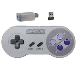 Wireless Usb Game Controller Pc Australia - wireless USB 2-in-1 NES SNES Gaming Controller for Nintendo Game pad For Style For PC Window 7 8 10 Gamepad