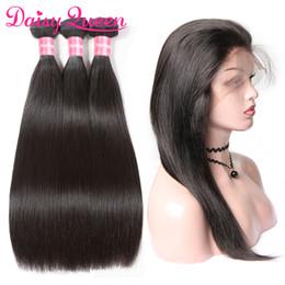 $enCountryForm.capitalKeyWord NZ - 8A Grade Brazilian Virgin Hair Bundles Straight 360 Lace Frontal Closure With 3 Bundles Cheap Pre Plucked Human Hair Frontal With Baby Hair
