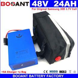 Motor Bicycles Australia - E-bike Lithium Battery for Original Samsung 30B 18650 48V 24AH For Bafang BBSHD 1200W Motor Electric Bicycle Battery 48V +a Bag