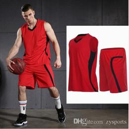 Training Shirts Basketball NZ - VANSYDICAL Men Basketball Uniforms Sports Sportswear Training Jerseys Clothes Shirt Vest Sleeveless Suits