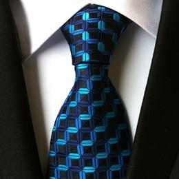$enCountryForm.capitalKeyWord NZ - hot 100% silk plaid ties for men shirt wedding cravate pour homme jacquard woven necktie Party gravata Business tie Formal lot
