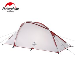 Discount living tents - Naturehike Camping Tent 3 Person 20D Silicone One Bedroom One Living Room Double Layers Rainproof NH Outdoor Tent 4 Seas