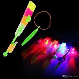 Flying Helicopter Toy Umbrella Free Shipping NZ - LED Amazing flying arrows helicopter fly arrow umbrella Kids Toys Gifts Wholesale Hot Sale Free Shipping