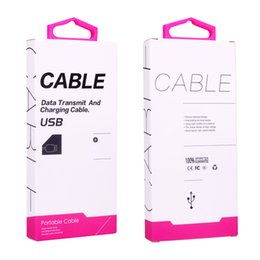 $enCountryForm.capitalKeyWord UK - 30pcs High Quality Mobile Phone USB Cable Paper Cardboard Packaging Box Hang hook Data Line Package Universal Packing
