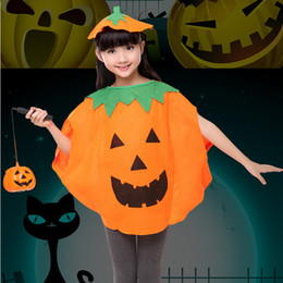 383a6c37db Pumpkin Suit Costumes Australia - Party Supplies Cosplay Halloween Pumpkin  Costume Child Clothes Hat Suit Halloween