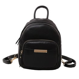 China Fashion Backpack Women lady Girl Pure Color Leather School Bag Backpack Satchel Women backpacks  Feminina sac a dos supplier pure leather ladies bags suppliers