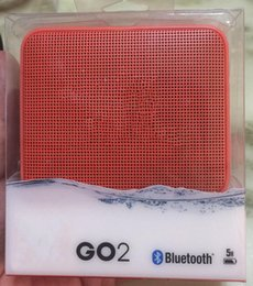 bluetooth mini speaker good sound UK - Top Quality GO2 mini bluetooth speaker mini portable wireless speakers good sound with retail package waterproof for phone DHL Free