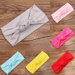 $enCountryForm.capitalKeyWord NZ - Newborn Kids Baby Girls Toddler Cute Bow Knot Solid Cotton Headband Soft Hair Band Lovely Cotton Headwear 0-3Yrs