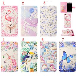 Discount iphone flamingo case - Unicorn Flamingo Cartoon Leather Wallet Case For Iphone X 6 6s Plus 7 8 Samsung Galaxy S8 Plus S7 Edge S6 A5 2017 J330 J