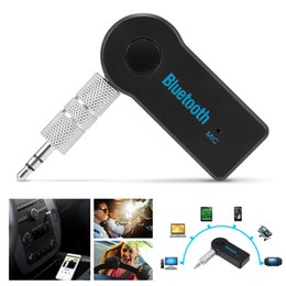 Discount stereo for auto - Bluetooth Audio Music Receiver Car Kit Stereo BT 3.0 Portable Adapter Auto AUX 3.5mm Streaming for Handsfree Phone MP3