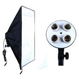$enCountryForm.capitalKeyWord UK - Photographic Equipment Photo Studio Soft Box Kit Video Four-capped Lamp Holder Lighting+50*70cm Softbox Photo Box