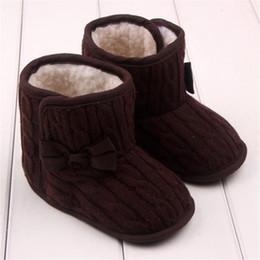 Crochet Baby Snow Booties Australia - NEW!!!TELOTUNY baby booties crochet Bow Soft Sole Winter Warm baby girl shoes u71212