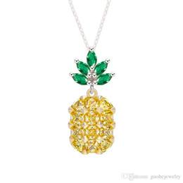 Necklaces Pendants Australia - New fashion necklaces pendants Sweet Fruit Pineapple necklaces Korean Simple Pendant short clavicle chain