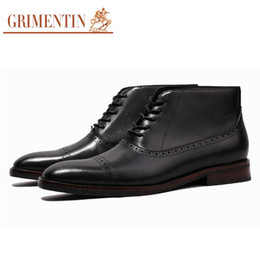 $enCountryForm.capitalKeyWord Australia - GRIMENTIN Hot sale Italian brand men boots customized handmade shoes genuine leather formal men ankle boots fashion business mens shoes